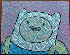 Finn the Human Adventure Time original painting by giddygirlie, $25