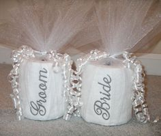 Yes, toilet paper can be embroidered. Someone wanted to get a memorable and unusual gift for the new bride and groom.