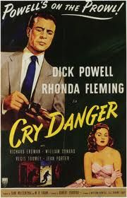 Seldom has broad comedy so thoroughly mingled with the darker themes of film noir than in Cry Danger rife with ... a night world  full of deceptive dames and double crosses and sparkling repartee.