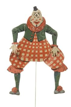 Jouet-ancien-pantin-clown-France-1920-vinatge-toy-arts-decoratifs