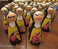st. therese the little flower catholic saint peg doll