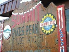 We rode the cog railway to the summit of Pikes Peak.  It was very cold & windy but really beautiful.