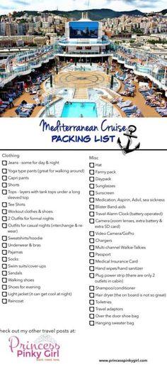 Mediterranean Cruise Packing List