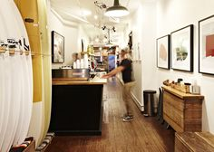 coffee and surf shop...!! / saturdays nyc