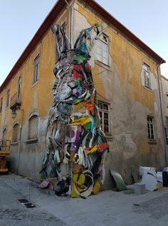 Vila Nova de Gaia está em transformação até 18 de Junho Inserida na programação de arte urbana do GTM - Fórum Internacional, a instalação