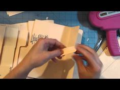 Ladies Diary file folder mini album tutorial - YouTube