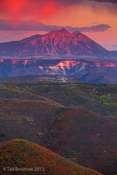Beckwiths Mountains Sunset, Gunnison National Forest; photo by Tad Bowman