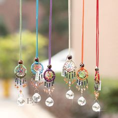 Set 6 Handmade Dream Catcher Wall Hanging Decoration Ornament Gift Suncatcher