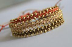 Set bratari LEI la mi-my. Make Your Own Jewelry, Jewelry Making, Brookies, Bangles, Bracelets, Warm Colors, Macrame, Jewlery, Fine Jewelry
