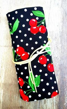 RED CHERRY CASE Knitting Crochet Needle by KnittingBagAndCase