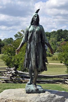 Colonization and Native Americans (Pocahontas Statue),  This is a Plains Indian.
