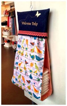 Picture only - no info on page. Baby Sewing Projects, Sewing For Kids, Diaper Holder, Diy Bebe, Baby Couture, Creation Couture, Baby Makes, Baby Needs, Baby Crafts