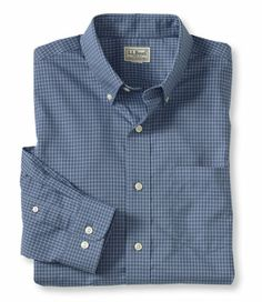 LL Bean Wrinkle-Resistant Mini-Check Shirt, Traditional Fit $44.95