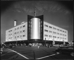 Julius Shulman's 1960 photograph of The May Co- Wilshire and Fairfax, Los Angeles.