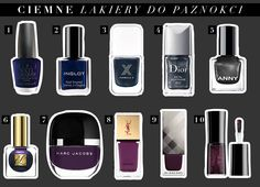 Ciemne lakiery do paznokci - hit na zimę! #darknails 9 And 10, Marc Jacobs, Nail Polish, Enamel, Nails, Metal, Beauty, Ongles, Finger Nails