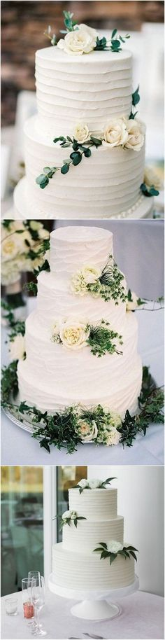 trending white and green elegant wedding cakes #weddingcakes #simplewedding #weddingcolors #weddingideas