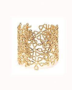 The Gold Flower Lace Cuff by JewelMint.com, $185.00