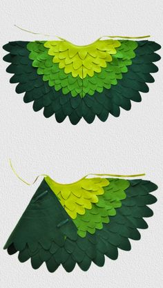 Fancy dress up wing captain shades of green. Fun for little kids to fly around with at home, at Carnival or Halloween.
