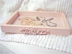 So Shabby Pink Original Chic Vanity Tray for Shabby Home Decor