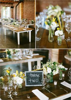 Yellow, green, and white super simple yet elegant tablescape!