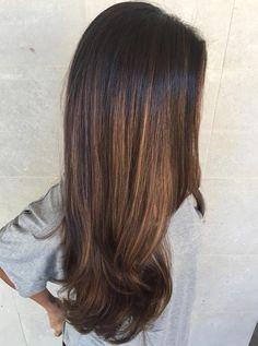Honey+Brown+Balayage+For+Black+Hair