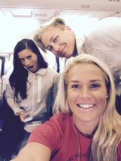 Ashlyn Harris, Ali Kreiger, Abby Wambach -- All aboard... #USWNT #WWC -- Sqor Sports