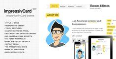 impressivCard WP - Responsive HTML5 vCard - Portfolio Creative