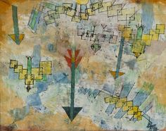 Paul Klee, Birds Swooping Down and Arrows, 1919.