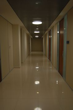 Hallway in Commercial Building enjoying the benefit from the natural daylight, at the same time saving money on electricity.