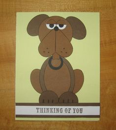 Punch Art, Dog, Masculine by Carolynn - Cards and Paper Crafts at Splitcoaststampers
