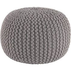 100-Cotton-Round-Handmade-Double-Knitted-PouffeFoot-Stool-Braided-Cushion-Pouff