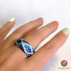 Item: A ring Kaga Yubinuki is a traditional Japanese ring shaped thimble made with Japanese silk threads and paper. As its made of silk and paper, it is so lightweight but please be careful not to let it wet. If it gets wet, dry it in shade. ;) if you are allergic to metal, this Yubinuki ring is for you! We are sure that our original colour combination will be an unusual gift! ++++++++++++++++++++++++++++++++++++++++++++++++++++++++++ About Size internal diameter: approx. 18mm external d...
