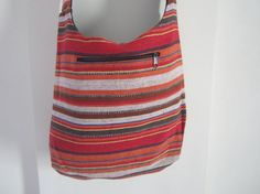 Crossbody bags Indian bags striped bags cotton by elephantsofindia, $17.60