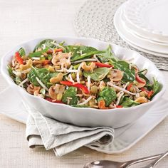 Make healthy, light and creative salads to break your lunch or dinner rut with a fruit-and-veggie party on your plate. Easy Salad Recipes, Salad Dressing Recipes, Gf Recipes, Great Recipes, Healthy Recipes, My Best Recipe, Recipe For Mom, Buffet, Cold Meals