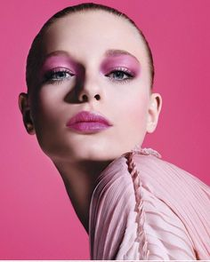 """1,307 Likes, 3 Comments - @art8amby on Instagram: """"#FrederikkeSofie goes pink on the #Spring2018 #adcampaign image of #DiorMakeUp photographed by…"""""""