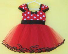Minnie Mouse vestido TUTU vestido de festa na Red Polka Dots vestido de super rodopia 1 da festa de aniversário
