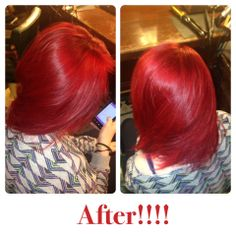 @Molly Schill from blonde to RED using Pravana Vivids