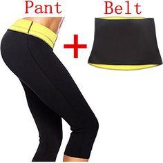 ( Pant + Belt ) Hot Shaper Body Shapers waist trainer Slimming Panties Pants & Belts Super Stretch Neoprene Breeches For Women