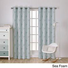 Girls Seafoam Green Medallion Window Curtain 96 Inch Pair Panel
