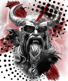 Valkerie Tattoo, Gas Mask Tattoo, Celtic Runes, Viking Runes, Viking Warrior Tattoos, Vikings, Tattoo Trash, Tatoo Designs, Crow Art