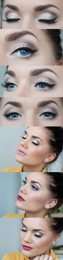 all about those eyebrows!  I love how they play off the black liner.