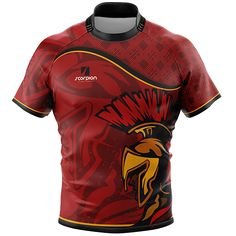 UK Manufactured Spartan Rugby Shirt from Scorpion Sports is ideal for Rugby Tours as a themed Rugby shirt for tournaments