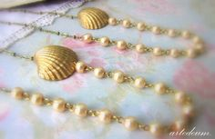 Will you be my Bridesmaid Gift Necklace Shell Set by WhiteTeapot, $90.00