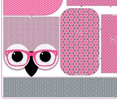 Geeky Owl Bag - PINK - LINEN-COTTON 54