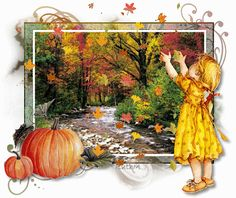 Animated Gif by JoanBlalock Green Pictures, Gif Pictures, Fall Pictures, Thanksgiving Pictures, Autumn Art, Autumn Leaves, Autumn Theme, Gifs, Winter Gif