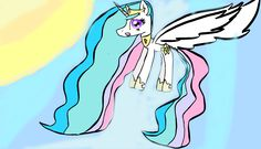 Drawing made with Sketchpad - https://sketch.io/sketchpad I drew Celestia singing a lullaby to Luna.