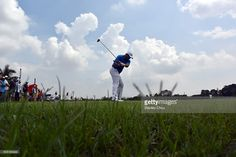 Victor Dubuisson of Team Europe plays a tee shot on the 11th hole during the Foursome Match play at Glenmarie G&CC on January 16, 2016 in Kuala Lumpur, Malaysia.