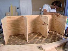 Carter Oosterhouse builds a movable bench with wheels and open storage.