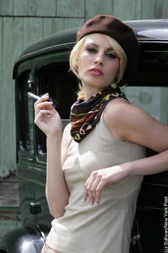 The uniquely American legend of Bonnie & Clyde began 75 years ago Saturday, when outlaws Bonnie Parker and Clyde Barrow were gunned down in an ambush by Bonnie Parker, Bonnie Clyde, Pretty Boy Floyd, Faye Dunaway, Most Beautiful Models, New York Post, New Trends, Pretty Boys, Editorial Fashion