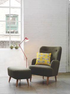 wilmot armchair and footstool; habitat